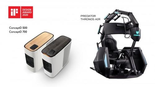 宏碁获五项2020年 iF国际设计奖——Predator掠夺者电竞产品及ConceptD工作站崭露锋芒