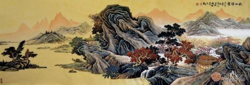 许吉尔手绘画作欣赏:意蕴非凡,典雅国画风范