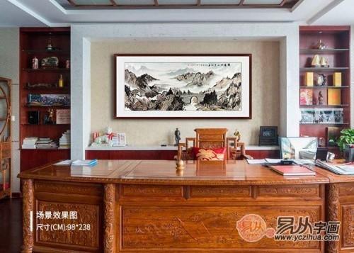 家里客厅挂什么画好,山水国画不仅是好看寓意更好