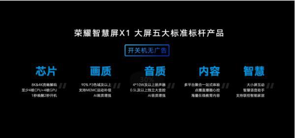 荣耀智慧屏X1系列今日首销,65吋全平台优惠300元仅售2999