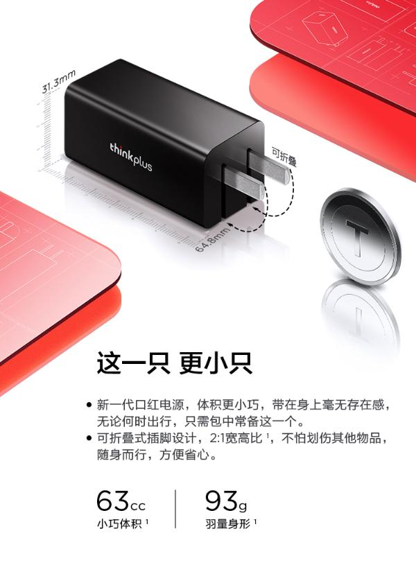 """ThinkPad商务便携利器thinkplus氮化镓口红电源来了!""""一支""""在手,充什么都来电"""