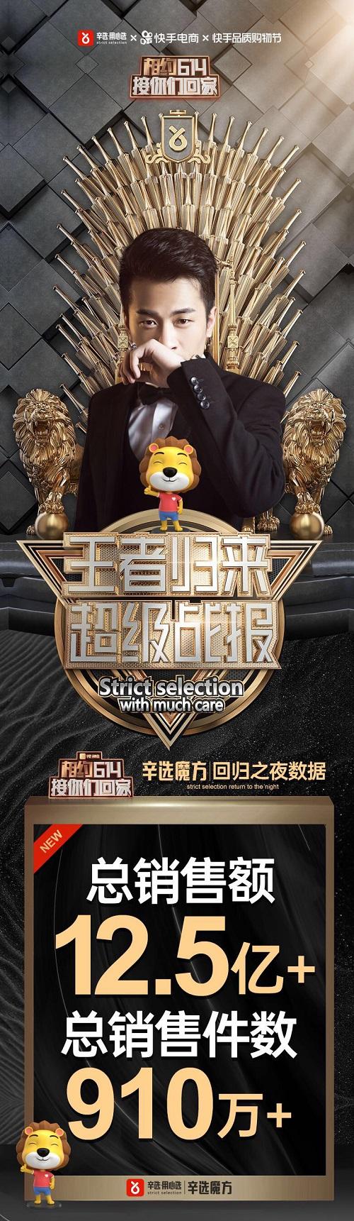 直播新纪录!辛巴辛有志回归首播GMV破12.5亿