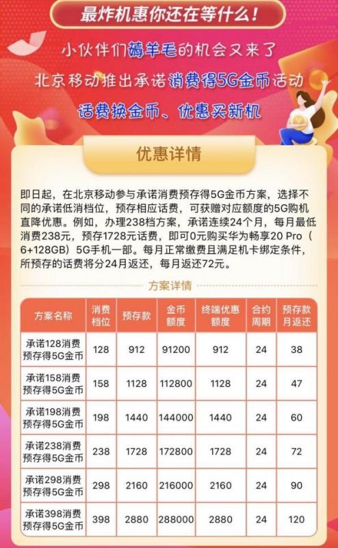"""""""我要用5G""""活动再掀购机新浪潮 北京移动推动5G终端普及化"""