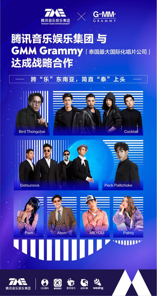 腾讯音乐娱乐集团牵手GMM 让全民K歌成为史上最全泰音K歌胜地