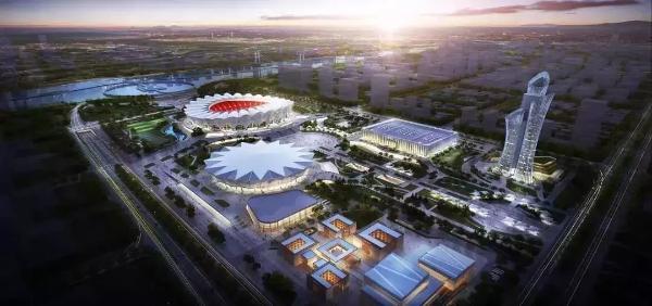 西安奥体中心再投2.5亿建造世界最大灯光喷泉工程