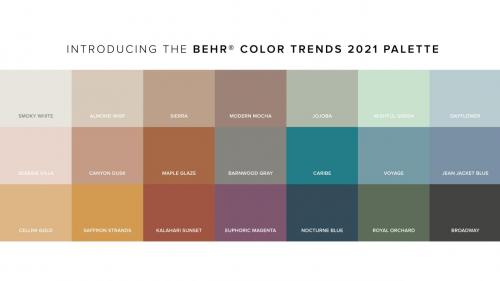 2021家装指南丨BEHR百色熊21款流行色发布,分分钟提升家居空间舒适度!