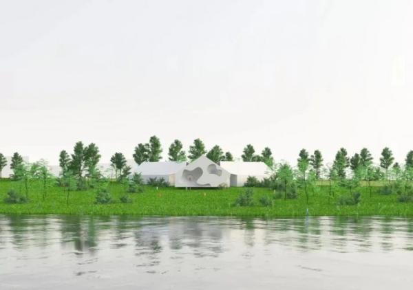 空间造园、双心联动,兴隆湖畔创意聚城