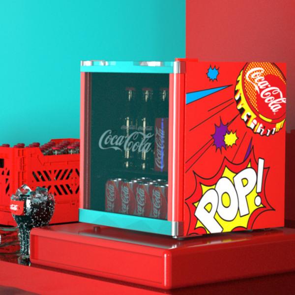 HCK哈士奇X可口可乐冰吧——「复古少女」专属小冰吧!