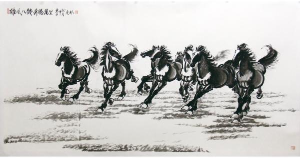 致敬与传承——杨庆林艺术作品展 在北京徐悲鸿文化艺术交流中心开幕