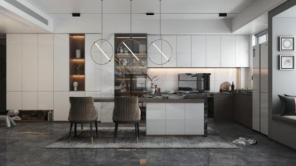 奥田集成灶记录生活:高颜值开放式厨房设计