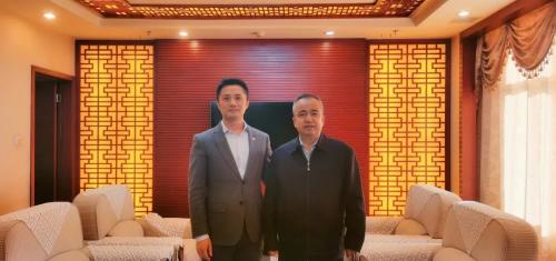 阿拉丁阳仁强拜会新疆维吾尔自治区党委常委、副主席艾尔肯·吐尼亚孜
