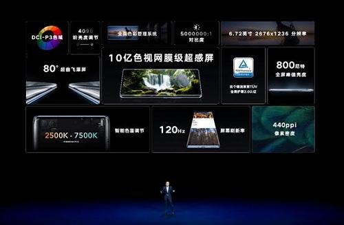 10亿彩超感屏加色彩管理系统 荣耀V40开启手机屏幕新标准