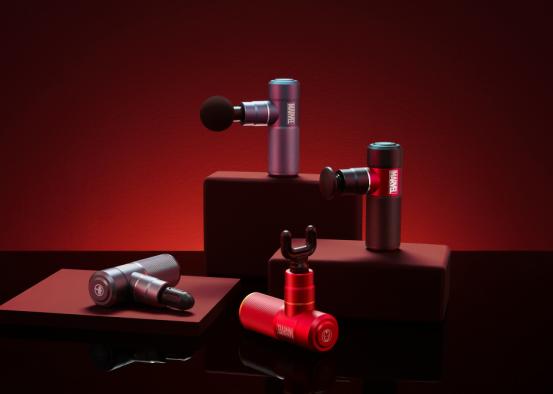 荣泰漫威联名款筋膜枪,可以放在口袋里的身体放松神器
