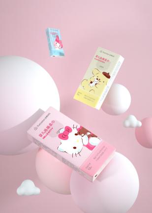 Hellokitty联名系列——全棉时代新品婴儿纯棉柔巾