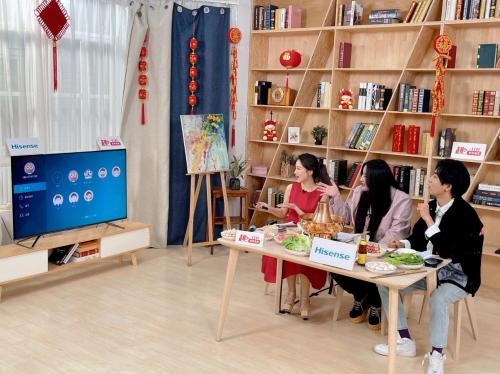 走进京东趣打开电视直播间,感受海信年货带来的居家品质