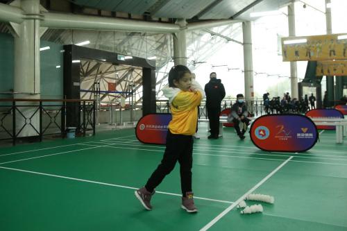 2021年度首次少儿羽毛球运动等级测试在长沙举行