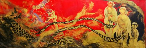 描红画金——中国姑娘陈晨宝蕴成功举办首次海外个人画展