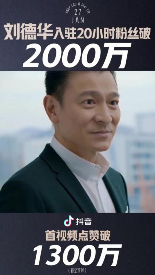 天王刘德华第一个社交媒体账号颤音重点介绍绝对头星