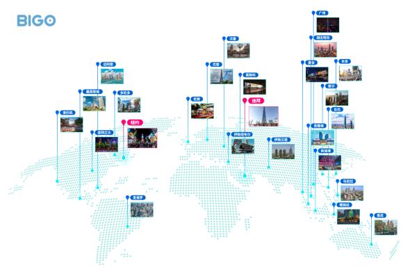 点亮全球30个地标,BIGO持续引爆全球视频社交