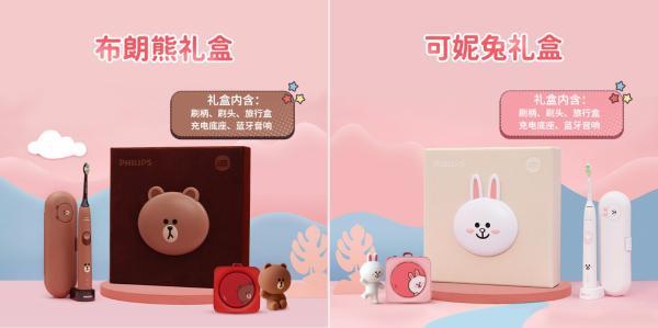 飞利浦Sonicare携手LINE FRIENDS打造情人节限定合作款高甜礼盒