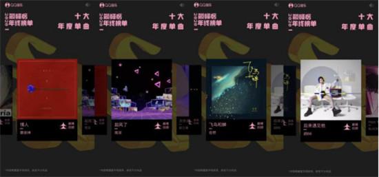 QQ音乐发布2020巅峰榜年终榜单 乐坛新生力量崛起
