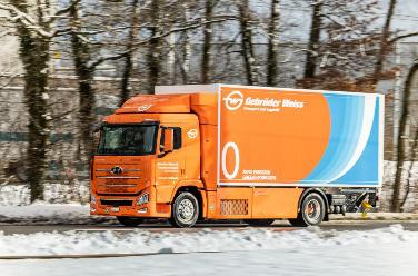 吉布达伟士顺利完成首辆氢动力卡车测试