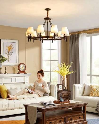 月影照明推荐为您打造美式客厅