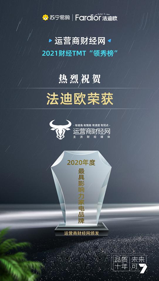2021中国财经TMT领军秀榜单新鲜出炉 法迪奥实力榜上有名 双冠王