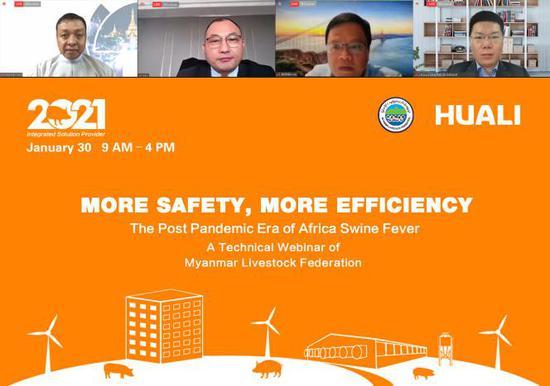 """更安全 更高效丨华丽科技""""2020后ASF疫情时代缅甸线上论坛""""顺利举办"""