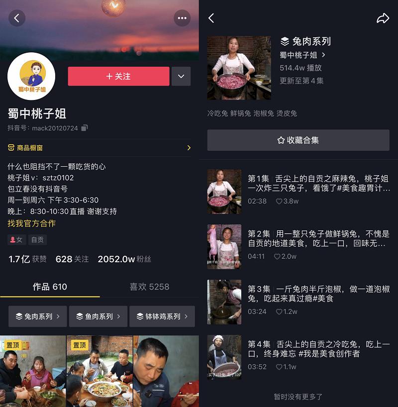 蜀中桃子姐抖音获赞1.7亿,网友:这才是热气腾腾的人生啊