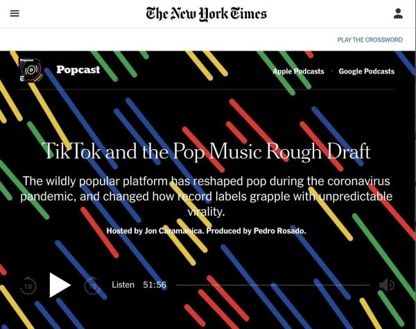 全球乐坛惨遭疫情冲击,TikTok重新引爆流行音乐