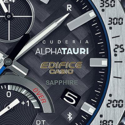 卡西欧与 F1 Scuderia AlphaTauri赛车队 推出新款合作6K碳纤维EDIFICE手表