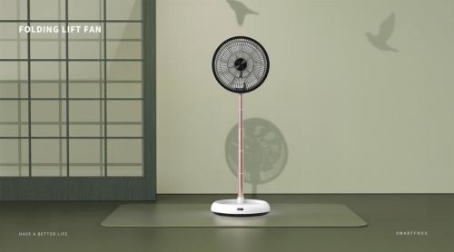 卡蛙伸缩折叠风扇, 高颜值夏日去暑好物