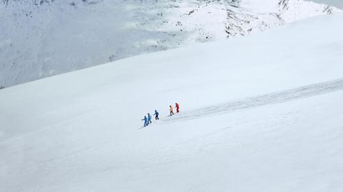 """""""人类滑雪起源地""""惊现巨型""""雪地宣言"""""""