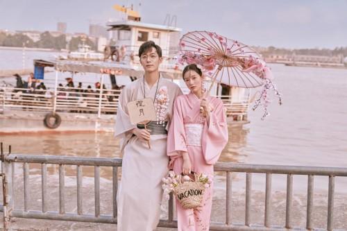 """又是一年的樱花季 白金旅拍照打造婚纱照 """"粉""""就在这个春天~"""