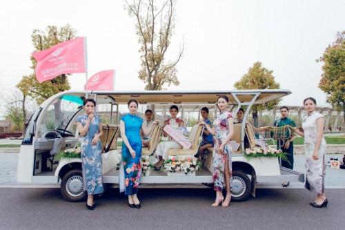 世界旅游小姐亮相扬州世园会,绘写万紫千红