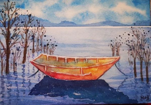 大鹏教育学员笔下的水彩画,每张都想设置成壁纸!