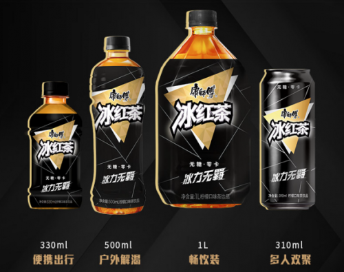 康师傅无糖冰红茶重磅上市,加速无糖茶饮品类再度升级!