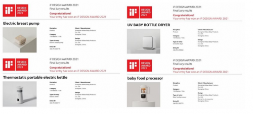 引领科技之美:小白熊多款产品荣获2021 iF设计奖
