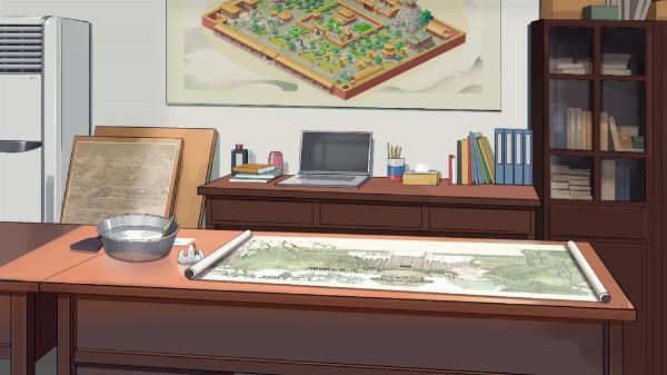 御花园又有新动画??和神秘少女一起修文物!