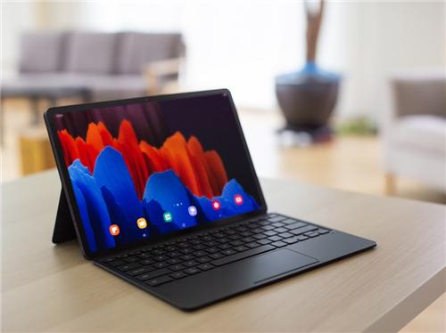 智能键盘体验 三星Galaxy Tab S7 S7+办公轻松又高效