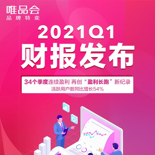 """好货好价再创""""盈利长跑""""新纪录,唯品会2021年Q1活跃用户大涨54%"""