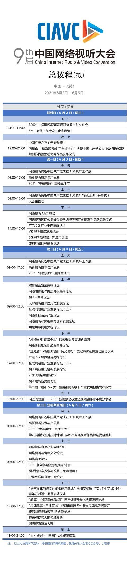 第九届中国网络视听大会将于6月3日在成都开幕