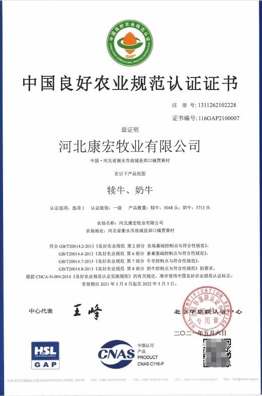 认养一头牛牧场获中国良好农业规范(GAP)认证 养牛实力接轨欧盟