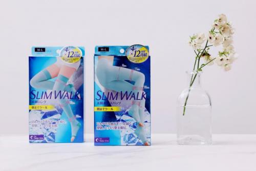 女团腿闪耀夏天|SLIMWALK凉感睡眠袜 夏季限定