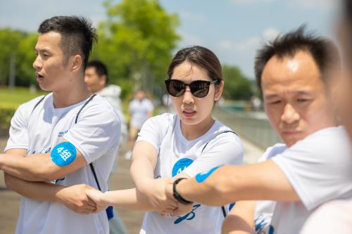 """徒步15公里,成功人力组织员工""""乐走""""金鸡湖畔"""