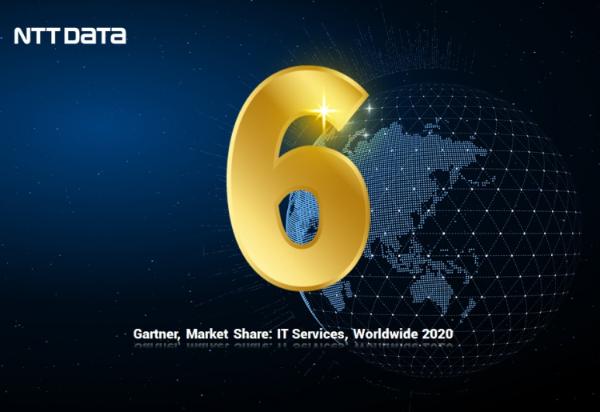 NTT DATA在2020年Gartner全球IT服务市场份额中攀升至第6位