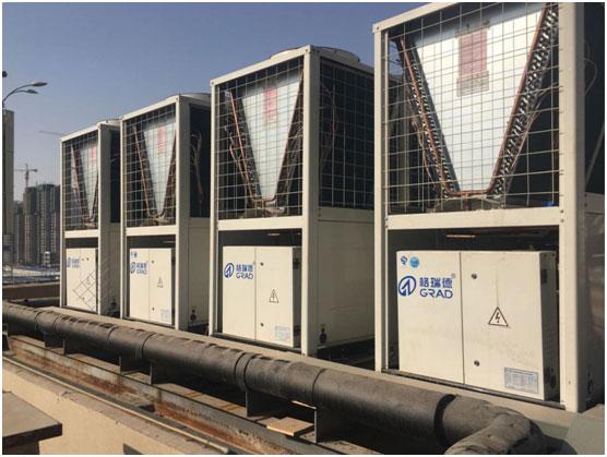 格瑞德超低温空气源热泵机组走进大西北