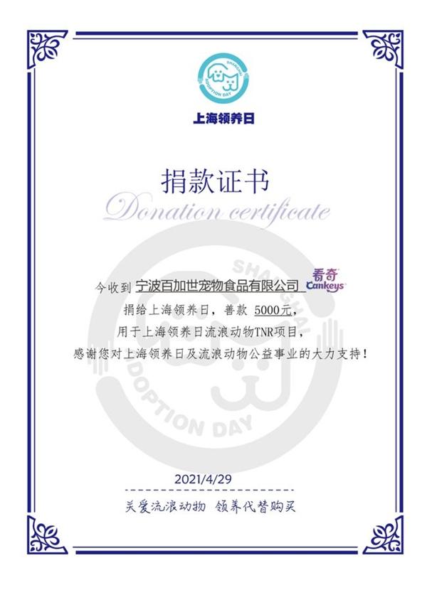关注公益 关爱流浪动物 带着它的品牌去看陌生的残片捐给上海认养日