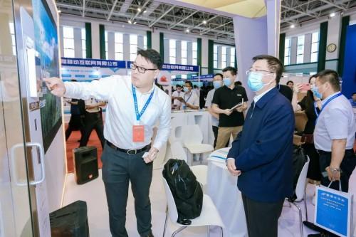 固安捷AGV无人仓建设初果在中国石油科技交流中心展示